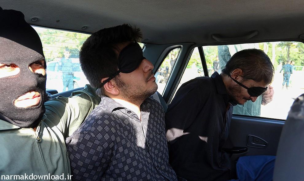عکس و فیلم اعدام دو قاتل کودک آزار در بلوار حر مشهد از نارمک دانلود