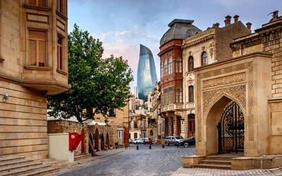 ایچری شهر باکو,باکو,برجهای سه گانه شعله باکو